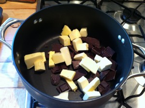 Butter and chocolate for melting